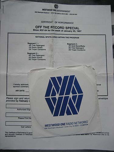 off the record radio 2cd