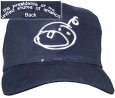 black pusa cap with face