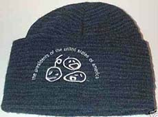 pusa wooly hat with faces logo