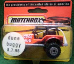 dune buggy toy in its box with a release date sticker - 8/7/96