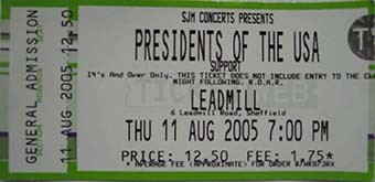 sheffield leadmill 11th august 2005