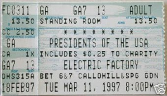 live at electric factory 11th march 1997