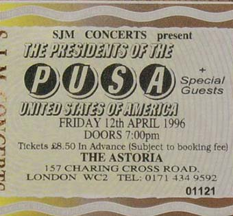 london astoria 12th april 1996