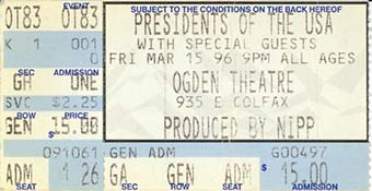 ogden theatre 15th march 1996