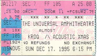universal ampitheatre 17th december 1995