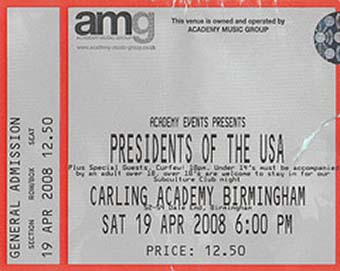 birmingham academy 19th april 2998