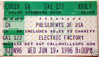 electric factory 19th june 1996
