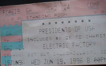 19th june 1996 ticket stub