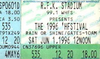 pusa - 1st june 1996 ticket stub
