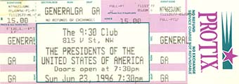 23rd june 1996 ticket stub