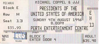 perth entertainment centre 4th august 1996