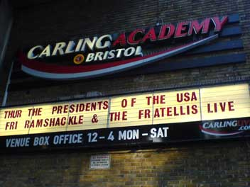 billboard advert for pusa at bristol academy